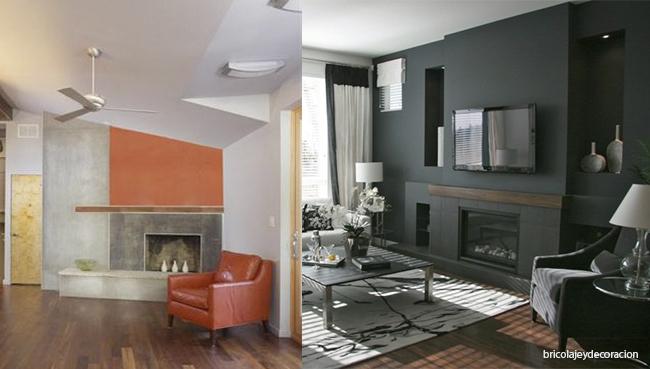 combinación gris naranja