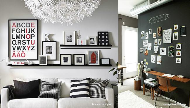 Comment d corer un mur avec style - Como decorar una pared con cuadros ...