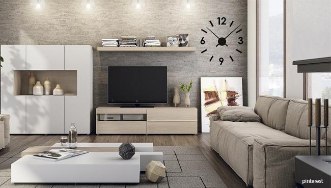 C mo decorar una pared con estilo - Reloj pegado pared ...